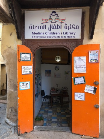 A children's library right next to our Riad.